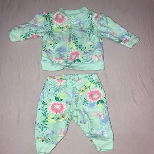 Baby Place 2-Piece Floral Set